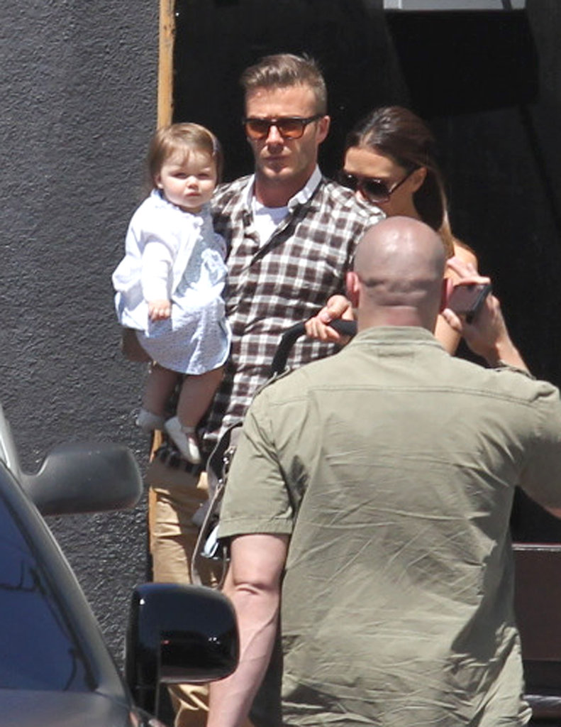 The Beckhams stepped out to lunch at LA's Matsuhisa restaurant on April 17, 2012, to celebrate Victoria's 38th birthday.