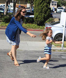 Jennifer Garner chased Seraphina Affleck.