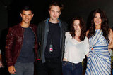 Taylor Lautner, Robert Pattinson, Kristen Stewart, and Ashley Greene all posed together in 2011.