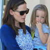 Jennifer Garner Walking With Seraphina and Violet