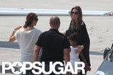 Angelina Jolie left Sarajevo with Zahara Jolie-Pitt.