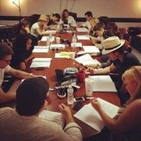 Michael Trevino shared this photo while at a table read for The Vampire Diaries. Source: Instagram user michael_trevino