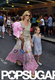 Heidi Klum walked around Times Square with her kids in NYC.