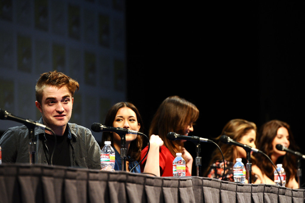 Robert Pattinson answered questions alongside his costars at the 2011 panel.