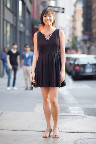 Update a staple LBD with seasonal-feeling statement jewels. Photo courtesy of Adam Katz Sinding