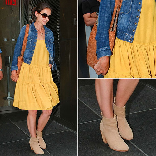 Here Comes the Sun — on Katie Holmes's Dress