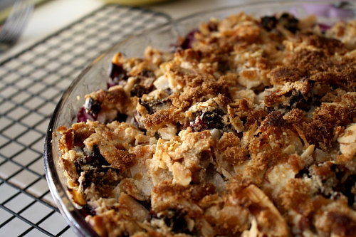 Paleo Blueberry Crumble