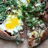 Asparagus Pizza With Goat Cheese Recipe