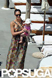 Jessica Alba vacationed in Italy with her daughters.