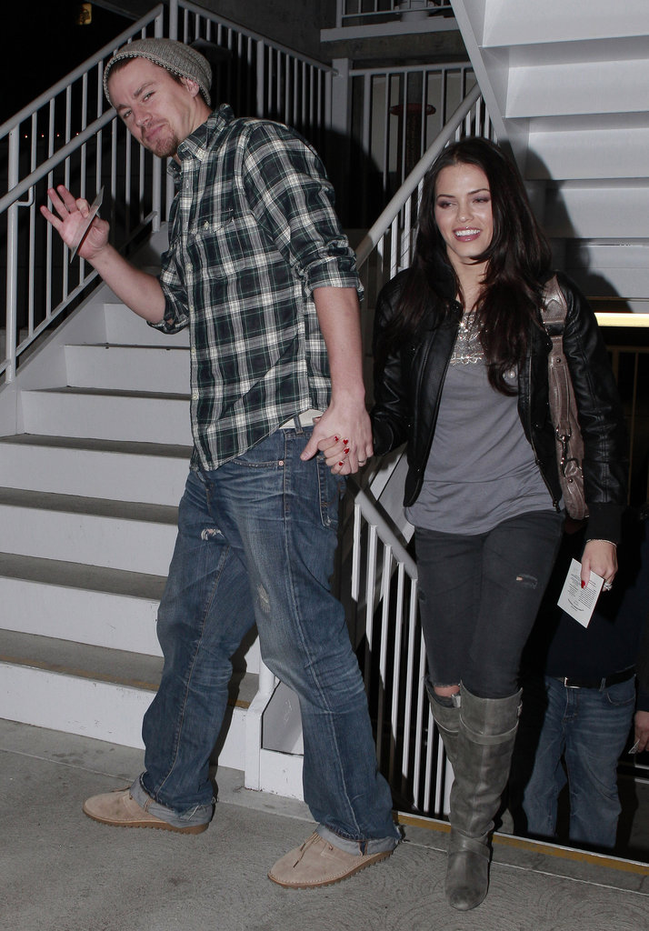 Channing and Jenna went to a movie in LA in January 2010.