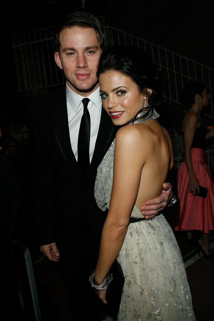 Channing Tatum stuck close to Jenna Dewan at a black-tie gala in January 2010 in LA.