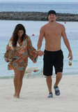 Channing Tatum went shirtless to hit the beach with Jenna Dewan in July 2007.