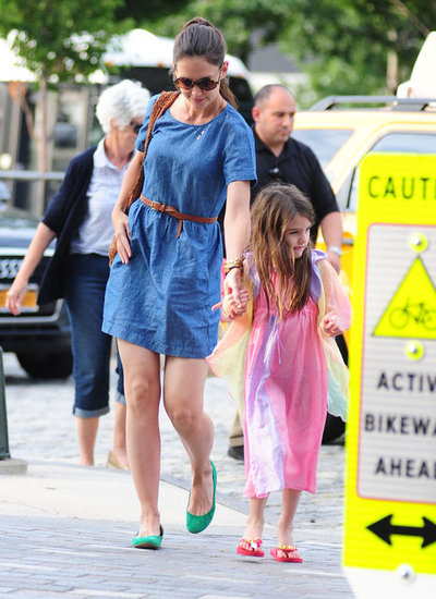 Katie Holmes and Her Mom Step Out With Suri in NYC