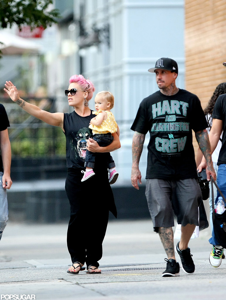 Pink and her husband were out in NYC with Willow.