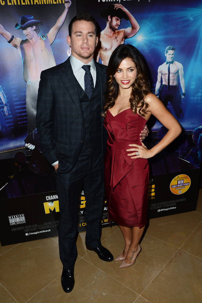 Channing Tatum and Jenna Dewan arrived at the Magic Mike premiere in London.