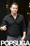 Channing Tatum posed outside of ITV Studios in London.