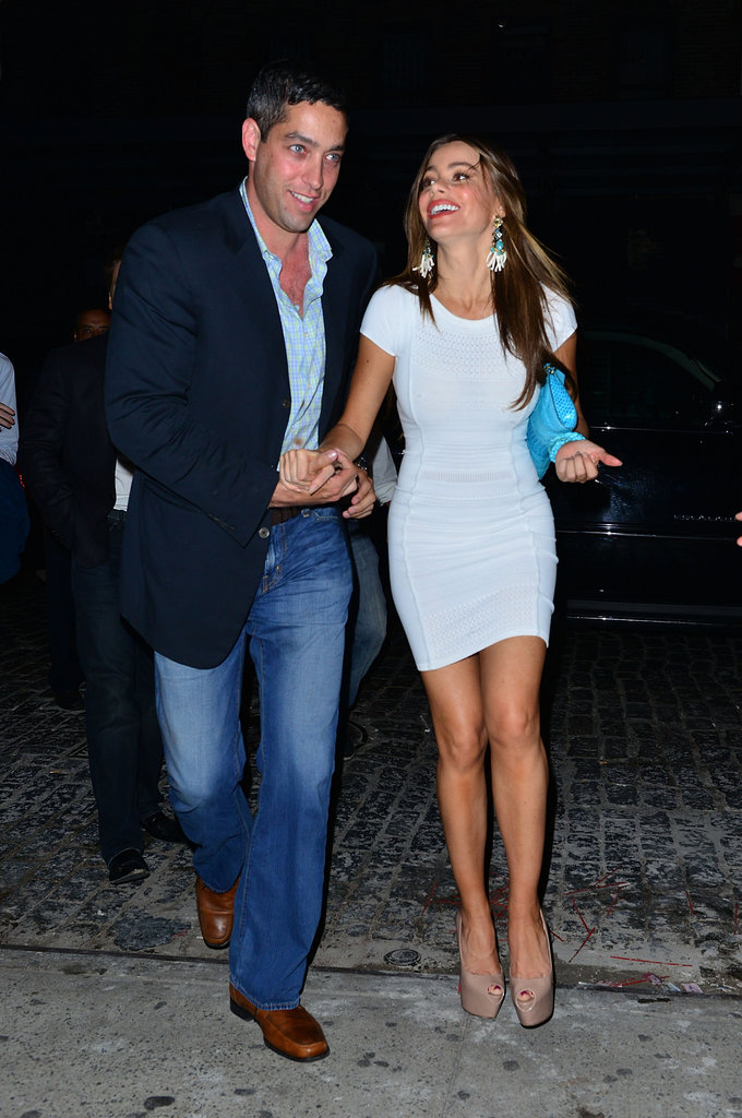 Sofia Vergara and Nick Loeb went out to dinner in NYC before heading to Mexico.
