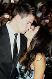 Channing Tatum kissed Jenna Dewan for the cameras in August 2009.