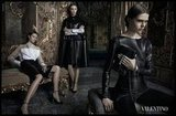 Even slick leather pieces look ultraromantic in Valentino's Fall campaign.