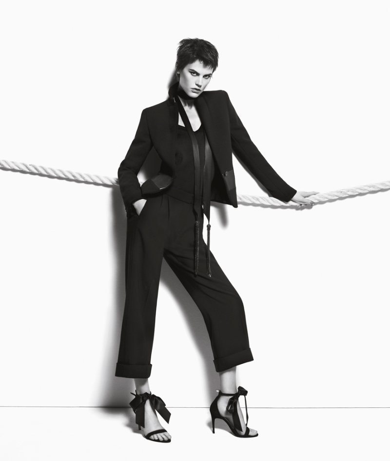 Find tuxedo perfection within Max Mara's Fall '12 ads.