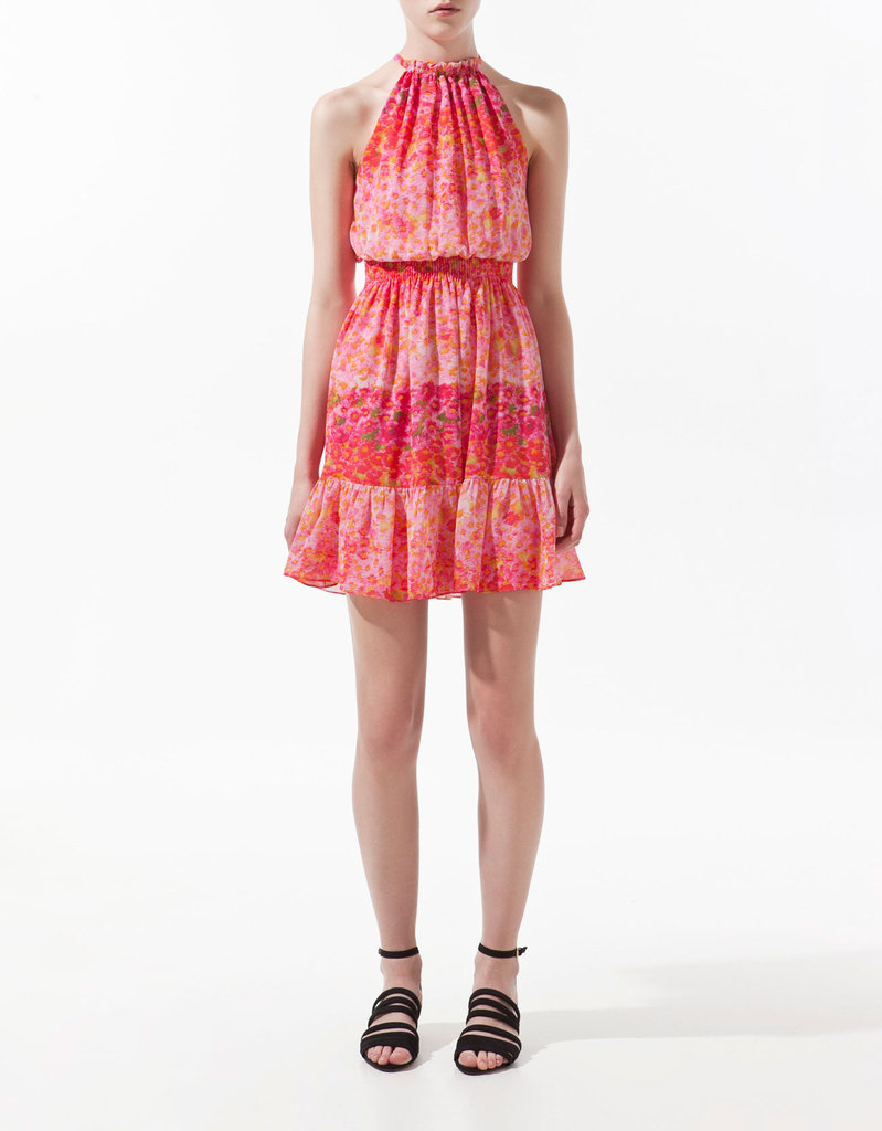 Ankle-strap sandals will pair perfectly with this subtly sexy option.  Zara Printed Dress ($50, originally $80)