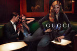Never one to skimp on the sex factor, Gucci vamps it up with darker menswear-inspired glamour.