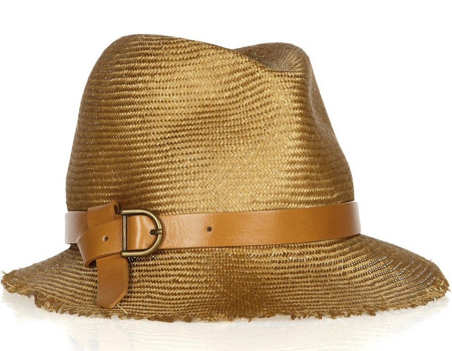 We're loving the timeless feel of this bucket-shaped straw hat, but it doesn't hurt that the leather strap detail offers up a slightly edgier accent. Eugenia Kim Dree Straw Bucket Hat ($253)