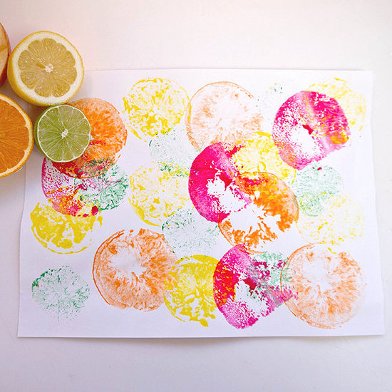 Fruit print crafts for kids popsugar moms for Arts and craft activities for kids