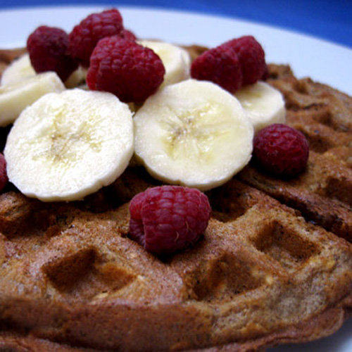 Fill up with these cinnamon, oat, and flax waffles. The recipe focuses on increasing your fiber intake so you're less likely to get the munchies later in the day.