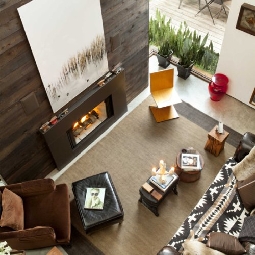 Modern Wooden Fireplace Mantle