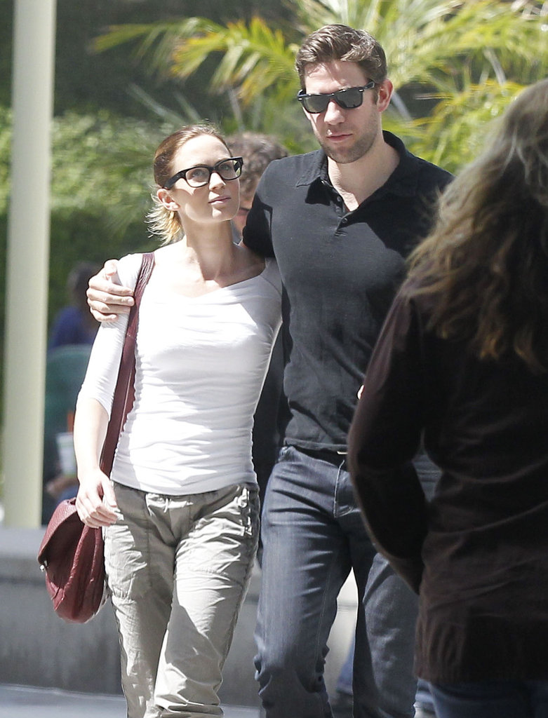 Emily Blunt and John Krasinski had a casual date in West Hollywood.