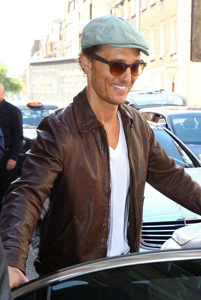 Matthew McConaughey flashed a wide smile.