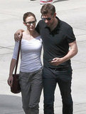 John Krasinski had his arm around Emily Blunt after the two caught a showing of The Amazing Spider-Man in West Hollywood.