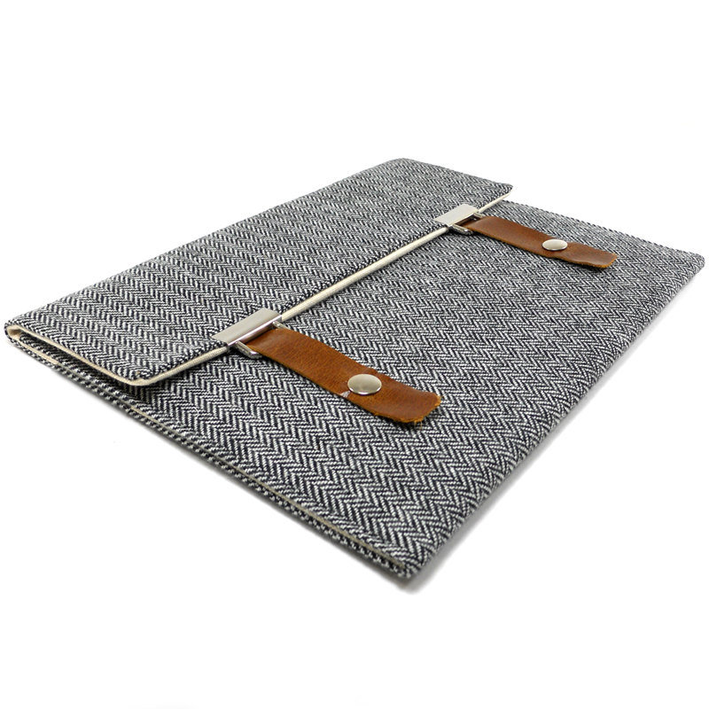 Gray Herringbone iPad Case ($75)