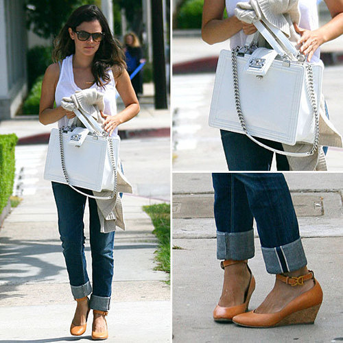 Rachel Bilson Reminds Us Why We Love Our White Tees + Jeans