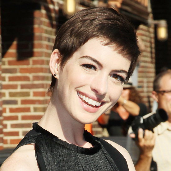Making a drastic change can heighten emotions, and Anne Hathaway admitted