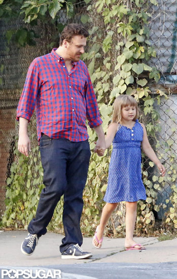 Jason Segel and Matilda Ledger held hands.