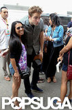 Robert Pattinson met Comic-Con fans.