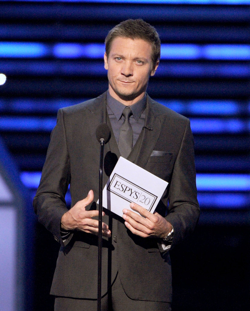 Jeremy Renner looked dapper while presenting an award.