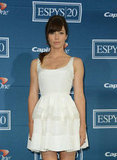 Jessica Biel stunned in a white dress.