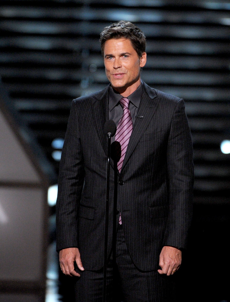 Rob Lowe spoke onstage at the ESPY Awards at the Nokia Theatre.