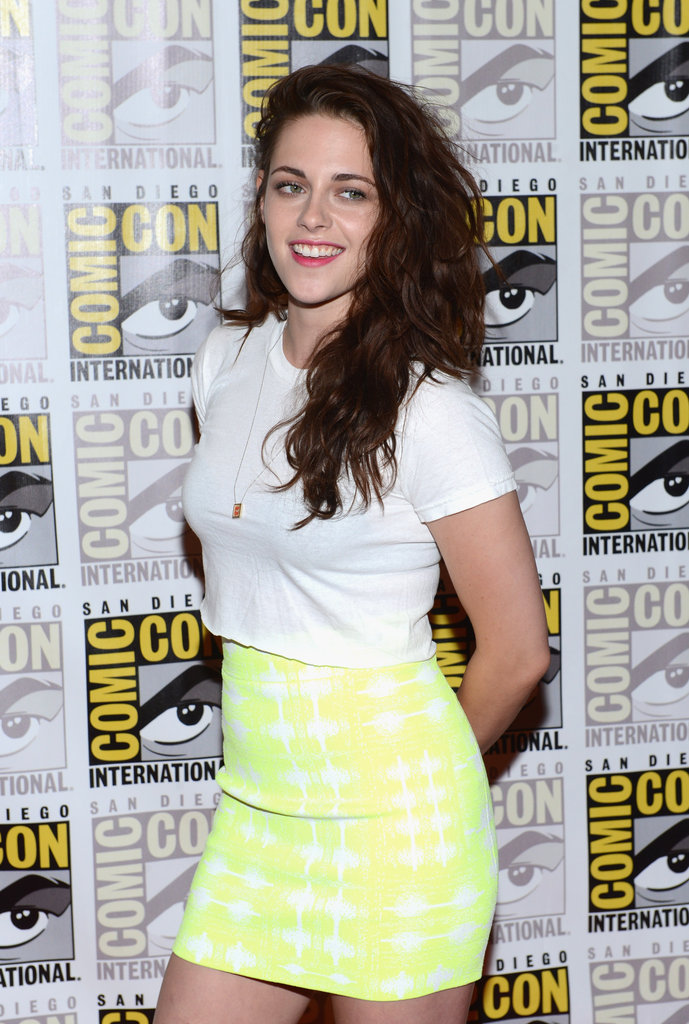Kristen Stewart smiled in San Diego during Comic-Con in July 2012.