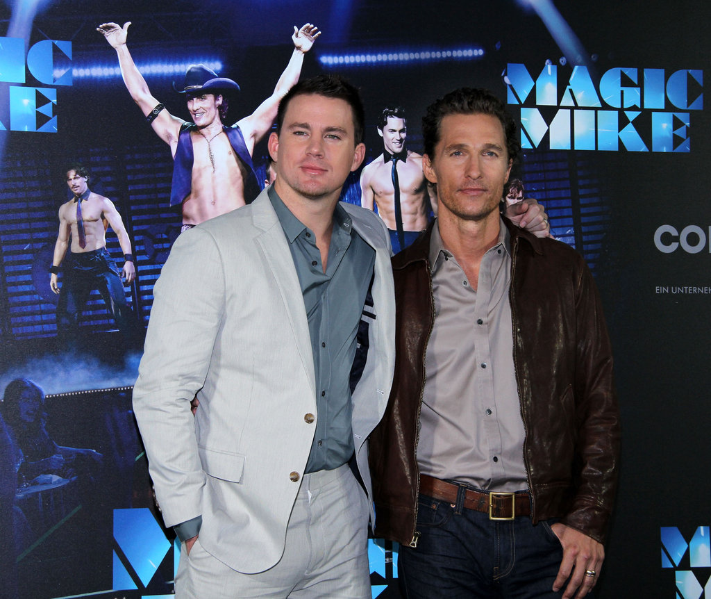 Matthew and Channing Bring Magic Mike and Their Good Looks to Berlin