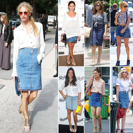 7 Days, 7 Ways: How Celebs Style Up Their Blue Denim Skirts