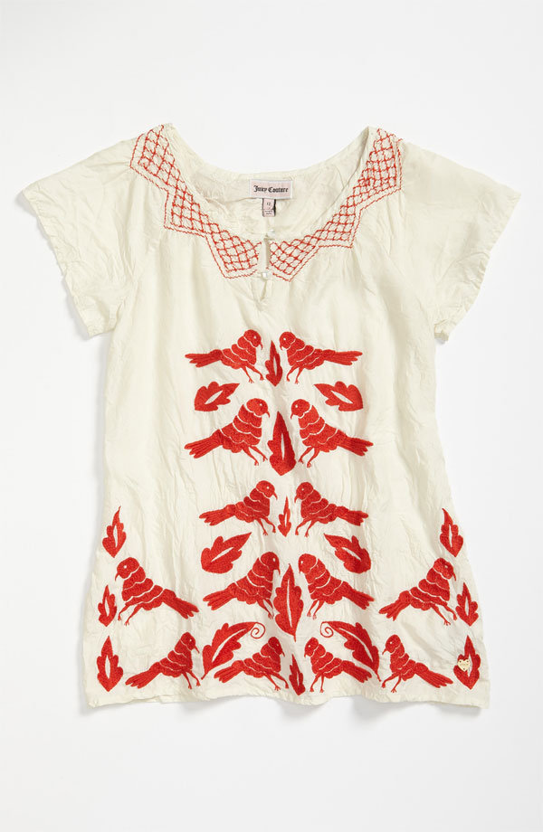 Juicy Couture Embroidered Bird Top ($98-$108)