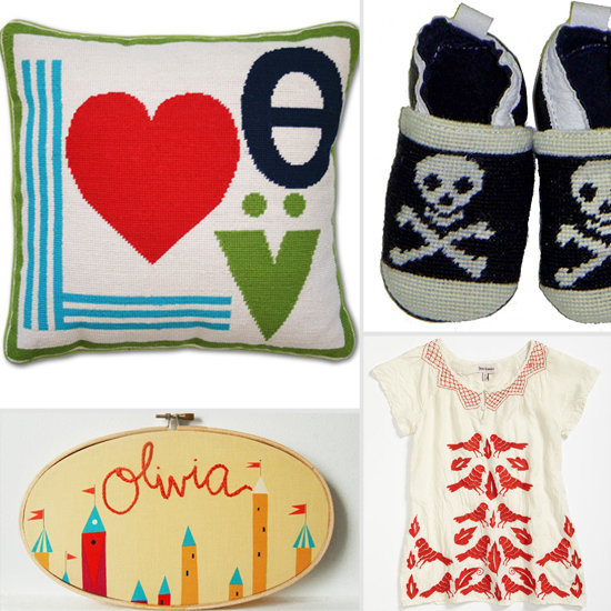 Old-School Cool: Needlepoint and Embroidery Get a Mod Kids' Makeover