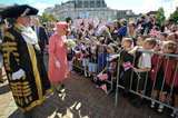 Queen Elizabeth greeted children during her Diamond Jubilee tour of Birmingham.