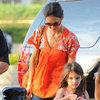 Katie Holmes Wearing Orange Tunic