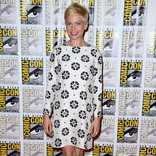 Michelle Williams Wearing Printed Mod Dress