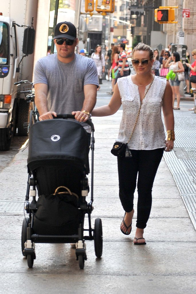 Hilary Duff and Mike Comrie Show Baby Luca the NYC Sights